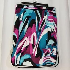 Michele Bohbot XL Side Slit Stretch Pencil Skirt